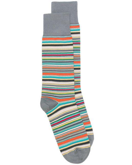 Paul Smith - Gray Multicolored Stripe Socks for Men - Lyst