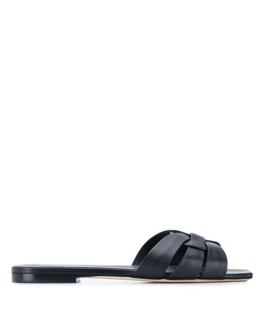 Saint Laurent Black Sandals Powder