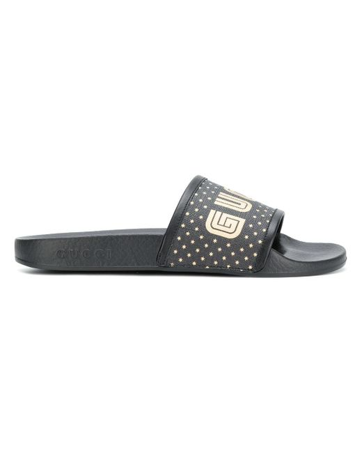 b09d6cc7983 Gucci Rubber Sandals in Black for Men - Lyst