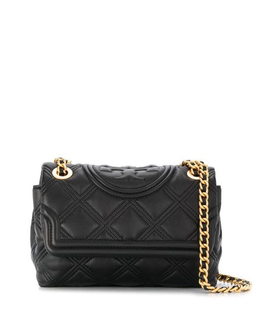 Tory Burch Black Quilted Crossbody Bag