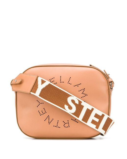 Stella McCartney Brown Stella Logo Mini Shoulder Bag