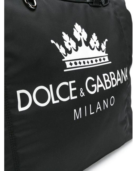 dolce gabbana logo panel belt bag in black for men lyst cheap for ... c1ec07fe32