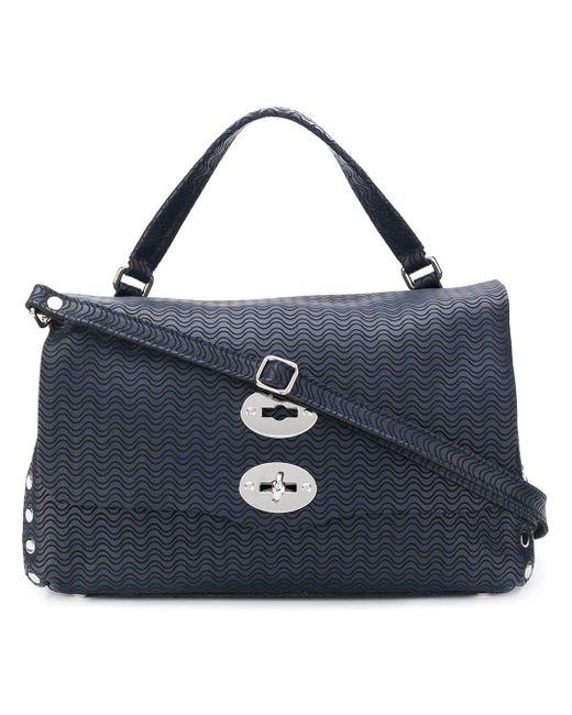 Zanellato Blue Small Stud Detail Tote Bag