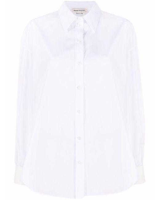 Camicia In Cotone di Alexander McQueen in White