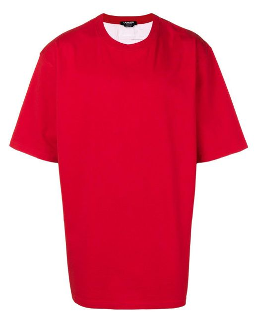CALVIN KLEIN 205W39NYC Red Cotton T-shirt for men