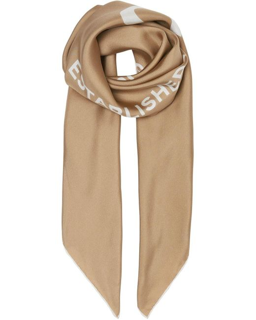 Burberry Natural Horseferry Print Silk Square Scarf