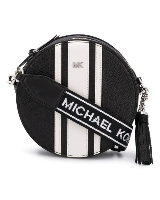 MICHAEL Michael Kors - Black Leather Canteen Bag - Lyst