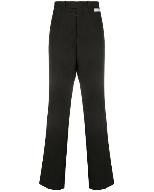 Off-White c/o Virgil Abloh Black Logo Patch Tailored Trousers for men