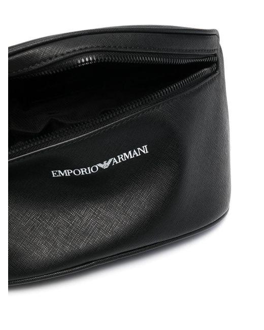 Marsupio con stampa di Emporio Armani in Black da Uomo