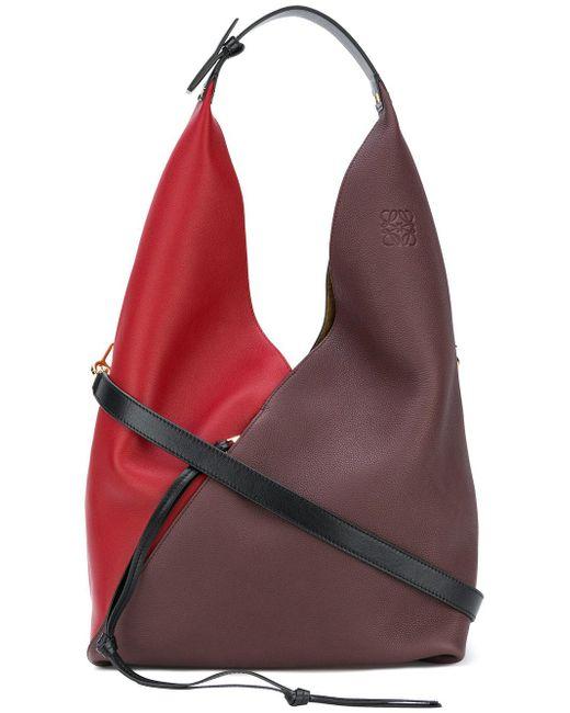 Loewe - Red Sling Leather Bag - Lyst
