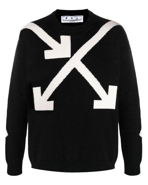 Off-White c/o Virgil Abloh Black Twisted Arrows Knitted Jumper for men