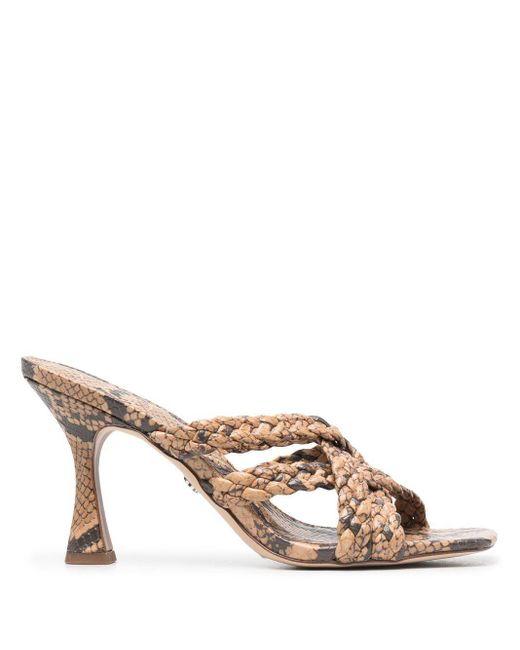 Sam Edelman Brown Snakeskin-effect Sandals