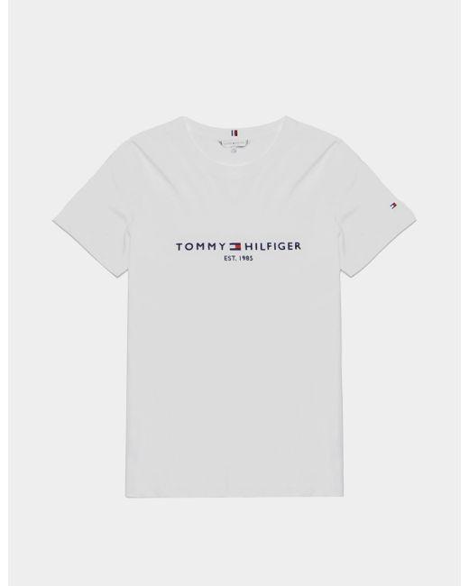 Tommy Hilfiger White Essential Short Sleeve T-shirt