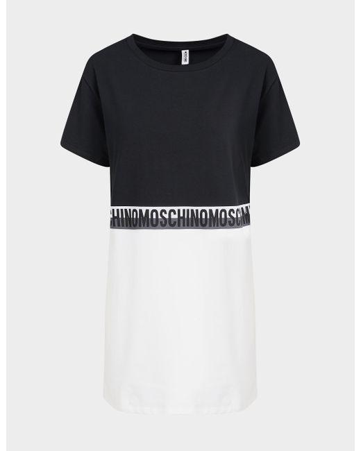 Moschino Black Colour Block T-shirt Dress Multi