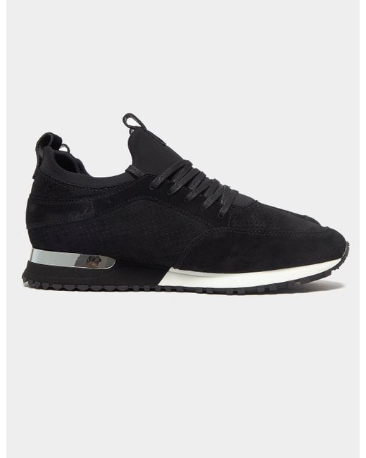 Mallet Suede Archway Trainers Black for