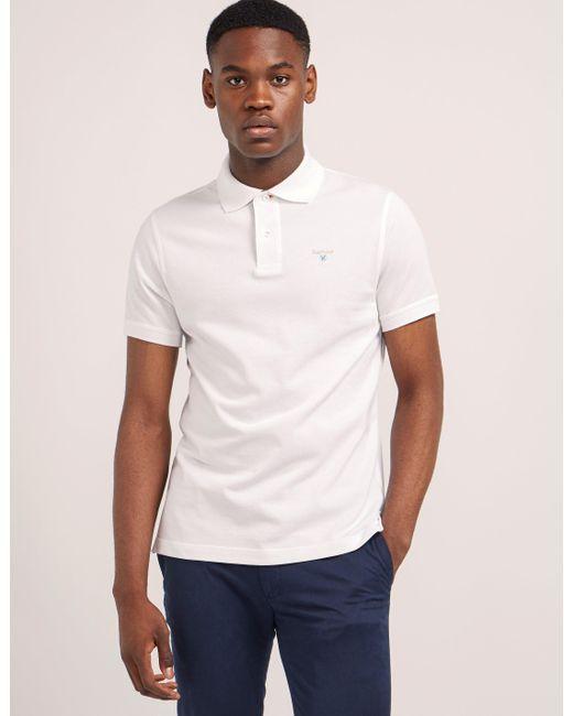 Barbour   White Tartan Pique Short Sleeve Polo Shirt for Men   Lyst