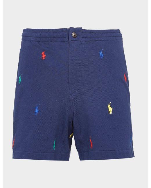 Polo Ralph Lauren Mesh All Over Polo Player Shorts Blue for men