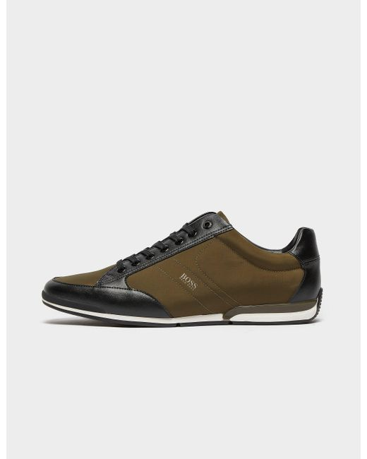 BOSS by Hugo Boss Green Saturn Low Nylon Trainers for men