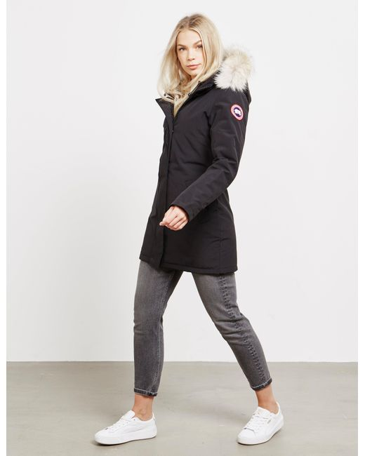 Canada Goose Goose Victoria Padded Parka Jacket Black Lyst