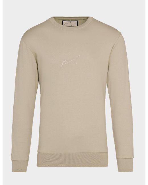 Tommy Hilfiger Signature Crew Sweatshirt Brown for men
