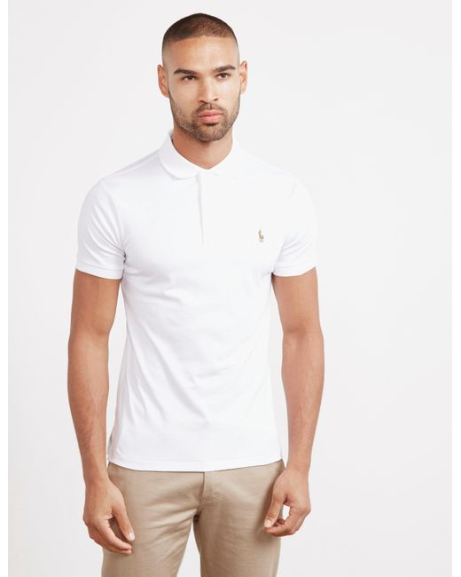 5e0ac3ad Polo Ralph Lauren - Pima Short Sleeve Polo Shirt White for Men - Lyst ...
