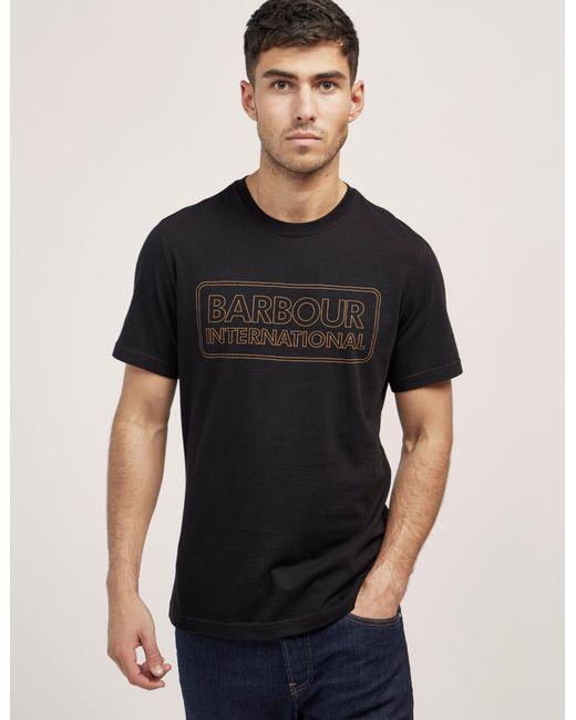Barbour | Black International Line Logo Short Sleeve T-shirt for Men | Lyst