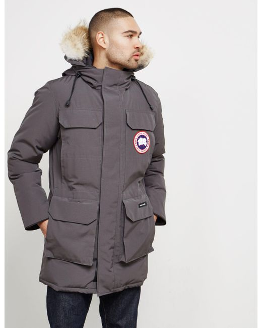 0d539323cd6a ... where to buy canada goose gray expedition parka w fur trim for men lyst  7bd5b 69342
