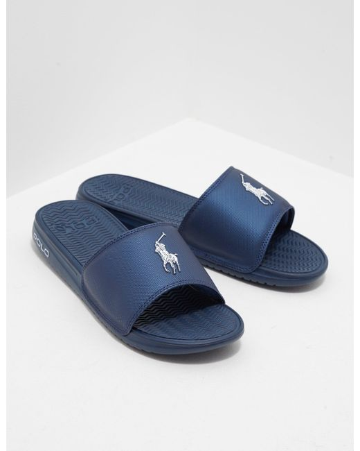 51e85ed5f685 Polo Ralph Lauren Rodwell Sliders in Blue for Men - Save 32% - Lyst