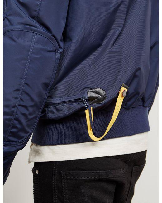 ... Parajumpers - Mens Gobi Padded Bomber Jacket Blue for Men - Lyst ...