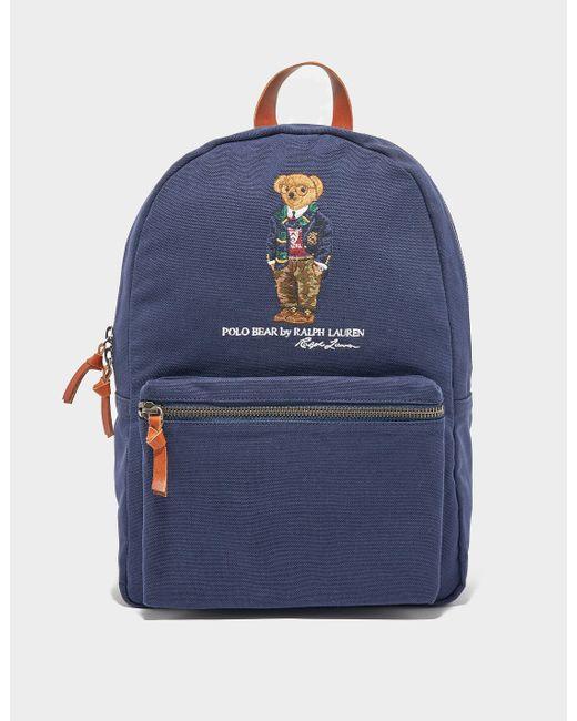 Polo Ralph Lauren Bear Backpack Bag Blue for men