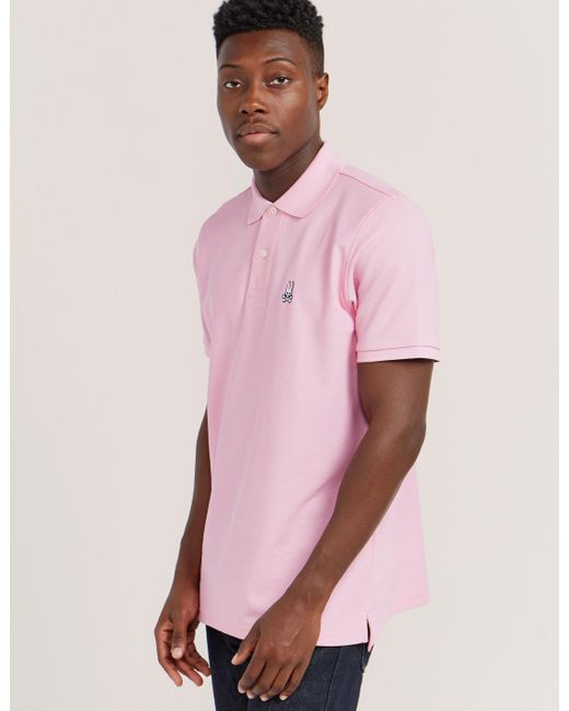 Psycho Bunny | Pink Basic Short Sleeve Polo Shirt for Men | Lyst