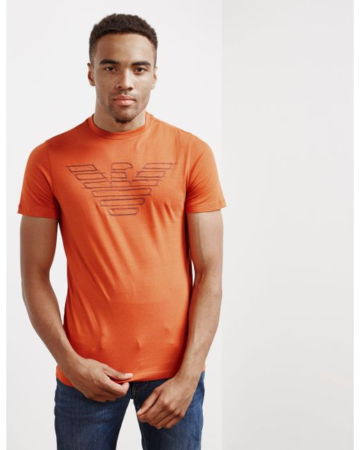 T Sleeve Eagle Men's Short Sketch Shirt Orange UzVSMqpG