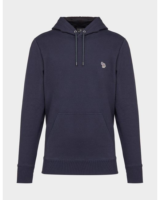 PS by Paul Smith Basic Zebra Hoodie Blue for men