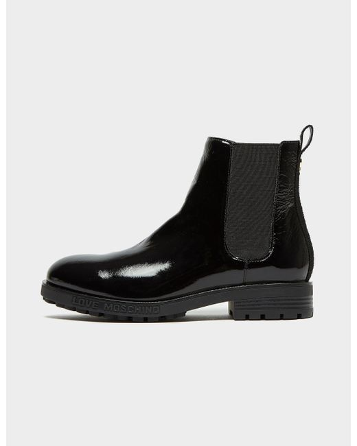 Moschino Black Chelsea Boots
