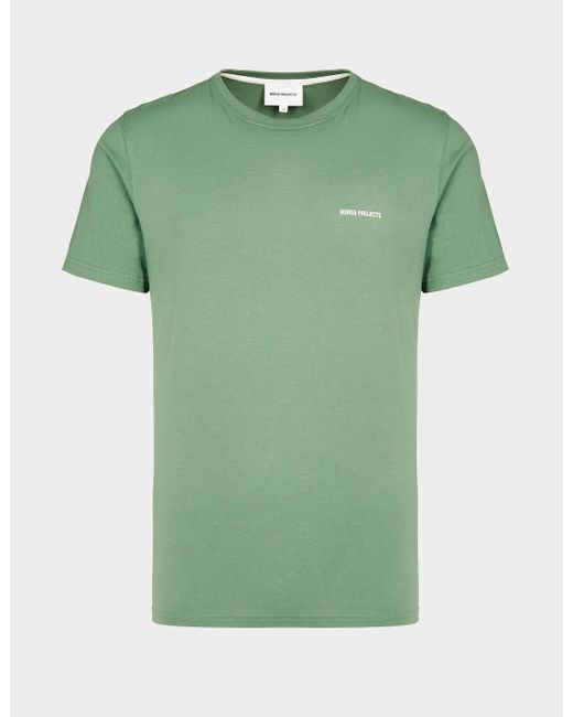 Norse Projects Niels Core Logo T-shirt Green for men