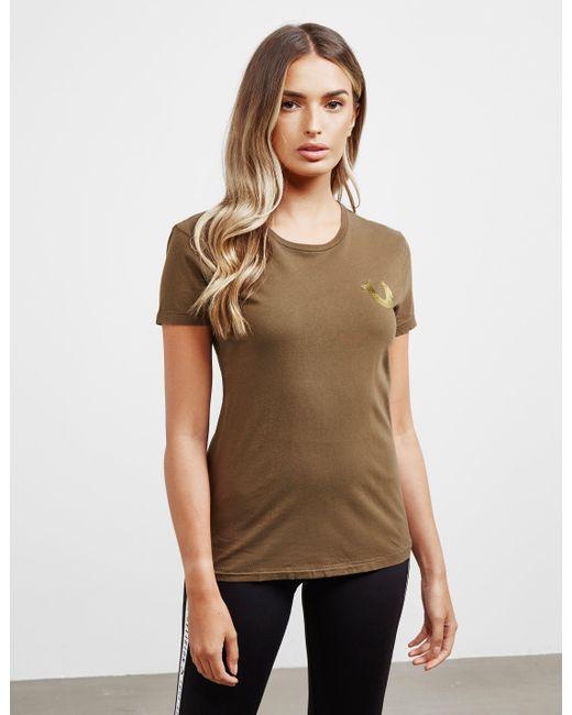 True Religion World Tour Short Sleeve T-shirt Green