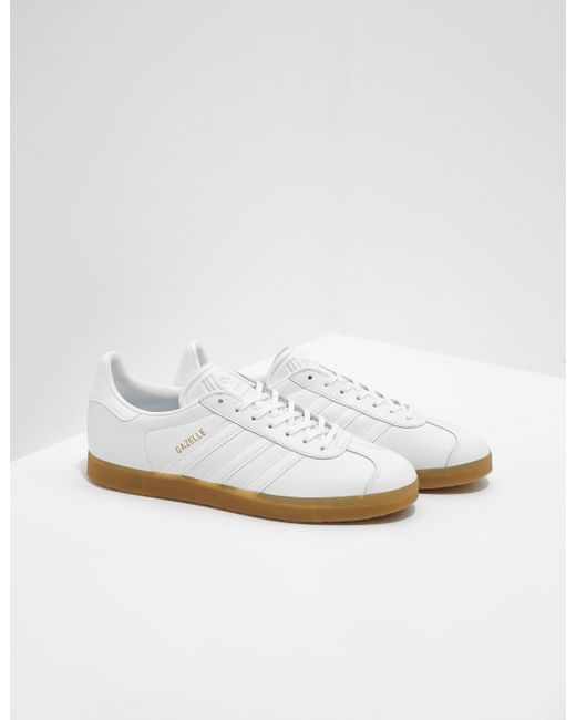 a75dbc2389e Lyst - adidas Originals Mens Gazelle White in White for Men