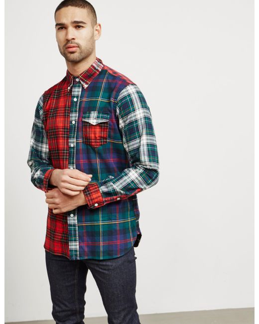 Polo Ralph Lauren - Mens Gingham Long Sleeve Shirt - Online Exclusive Red for Men - Lyst