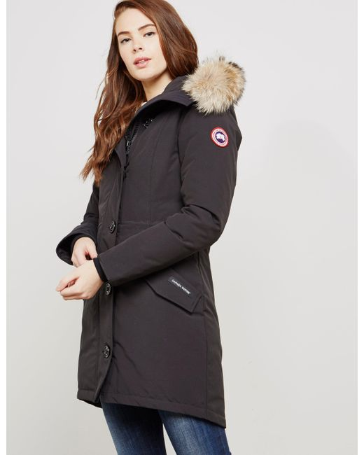 Canada Goose - Womens Rossclair Padded Parka Jacket Black - Lyst ...