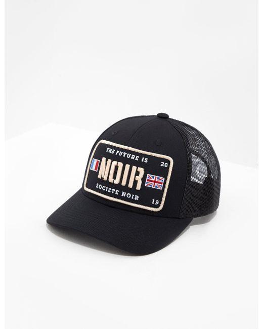 societe NOIR Plate Logo Cap Black for men