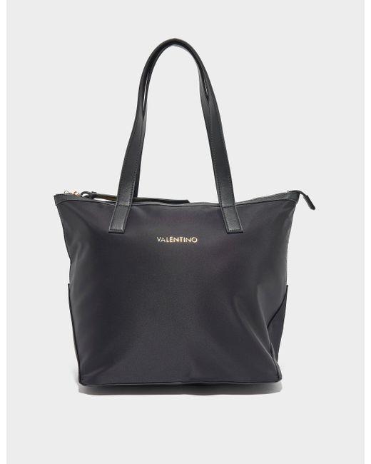 Valentino Garavani Black Medium Nylon Tote Bag