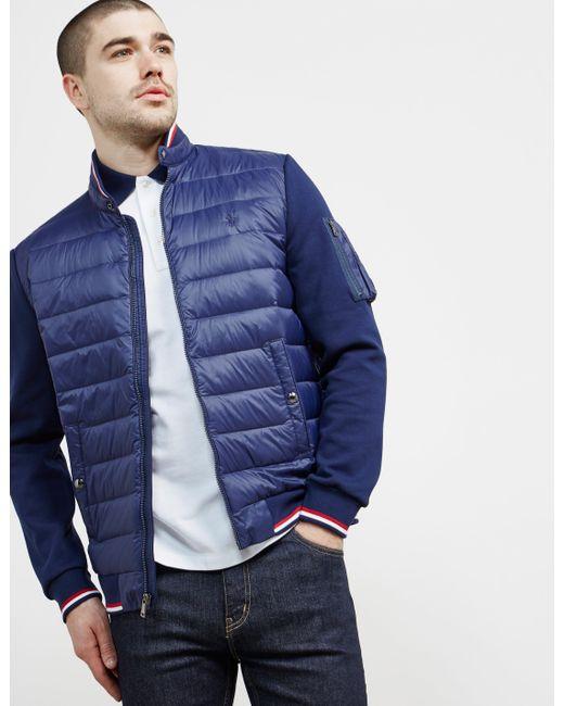 Polo Ralph Lauren Padded Technical Jacket Navy Blue for men