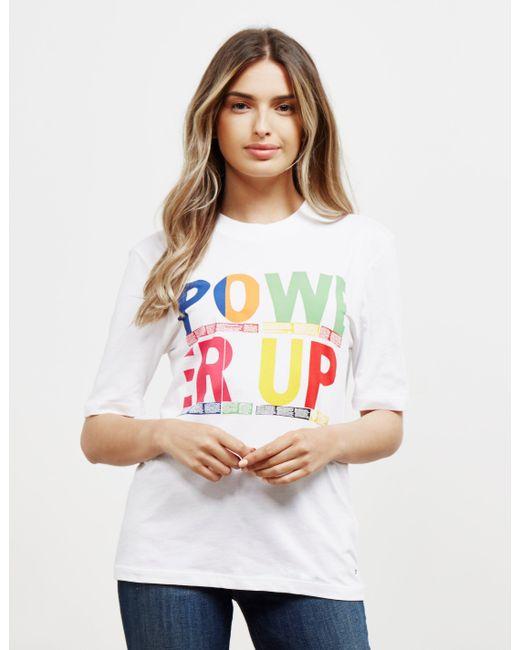 Tommy Hilfiger Rainbow Short Sleeve T-shirt White