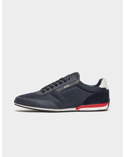 BOSS by Hugo Boss Saturn Low Mesh Trainers Blue for men