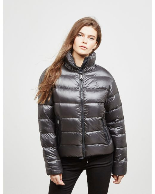 Polo Ralph Lauren Gray Embroidered Down Jacket Grey