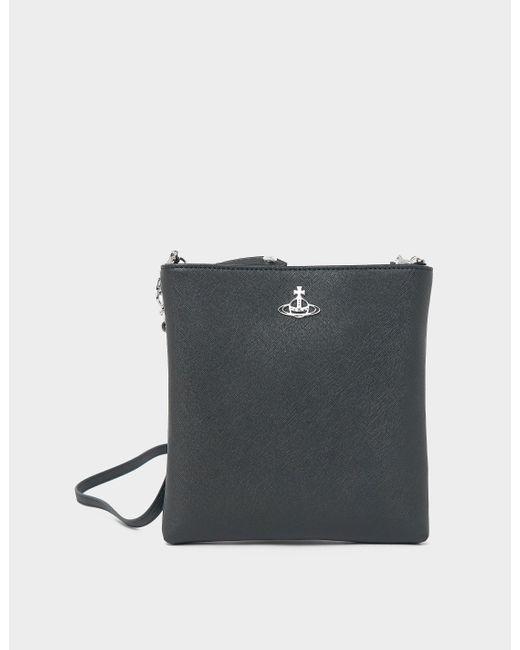 Vivienne Westwood Black Derby Chain Crossbody Bag