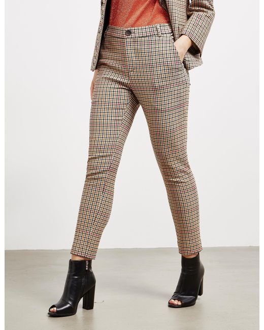 Vivienne Westwood Brown Anglomania Check Trousers