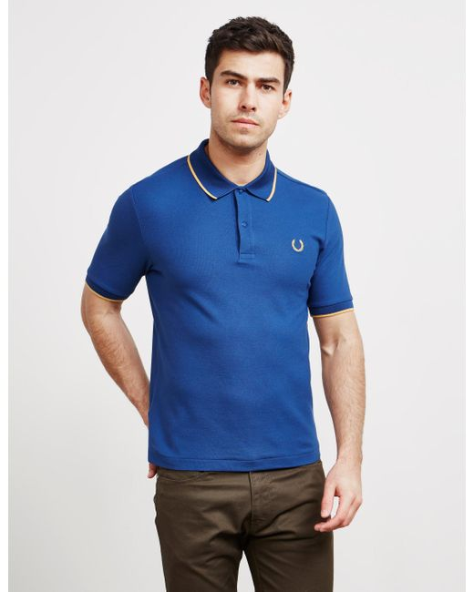 fe924852fd0f Fred Perry - Mens X Miles Kane Short Sleeve Pique Polo Shirt Navy Blue for  Men ...