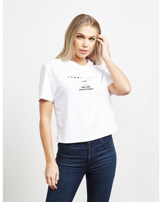 Tommy Hilfiger Small Logo Short Sleeve T-shirt White
