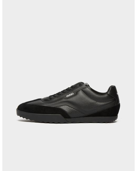 HUGO Black Matrix Leather Trainers for men